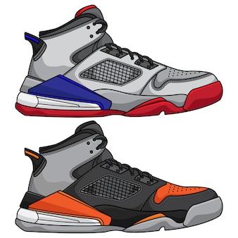 Icona di scarpe da basket in stile cartone animato