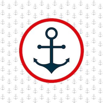 Icona di sfondo modello di ancoraggio
