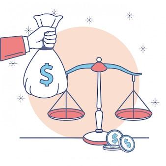Icona di soldi e affari