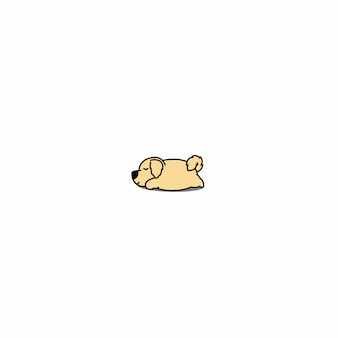 Icona di sonno cane pigro golden retriever