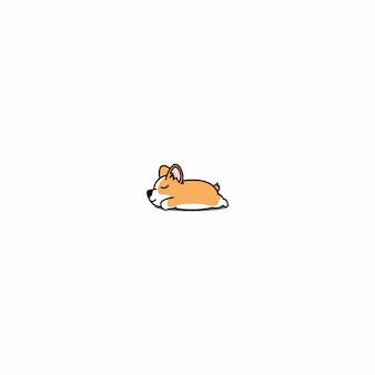 Icona di sonno del cucciolo del corgi di lingua gallese