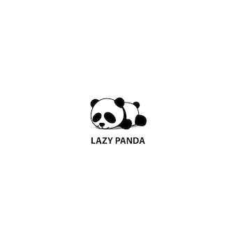 Icona di sonno panda pigro