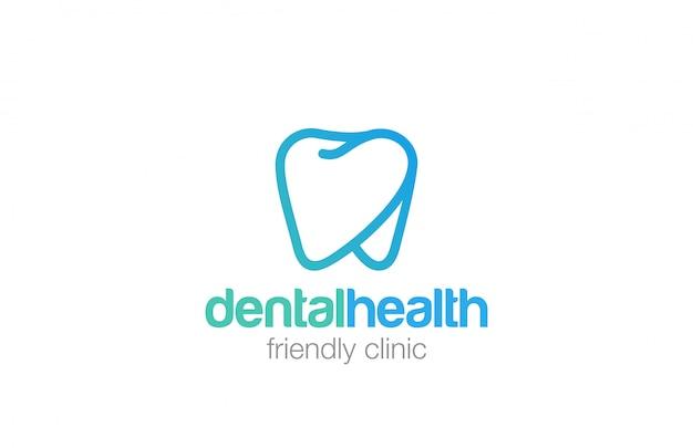 Icona di stile lineare di salute dent logo.