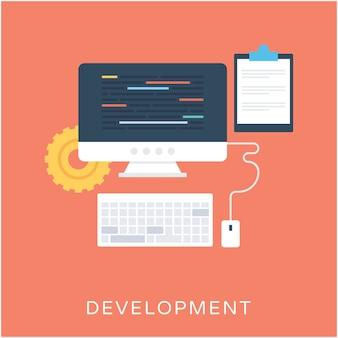 Icona di sviluppo piatto vettoriale