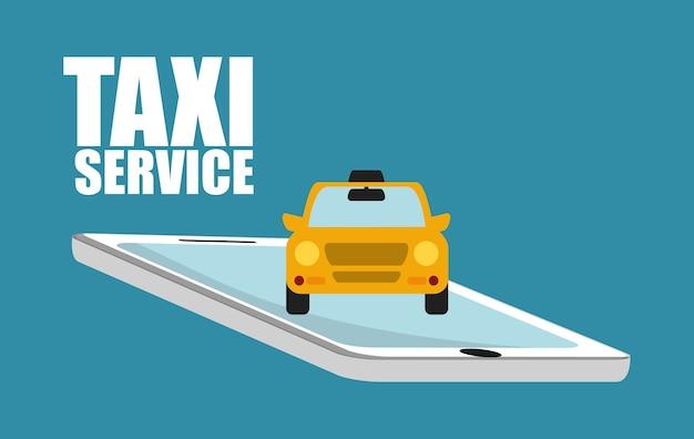 Icona di taxi auto. progettazione di trasporti pubblici. taxi. stile piatto