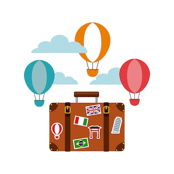 Icona di turismo viaggio valigia