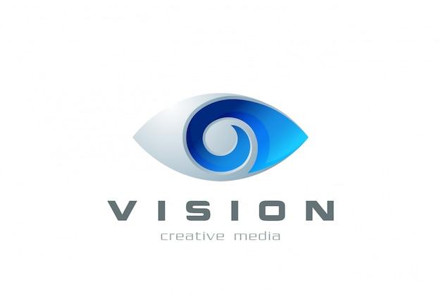 Icona di vettore del logo dell'occhio.