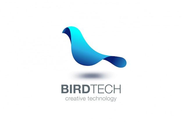 Icona di vettore del logo dell'uccello.