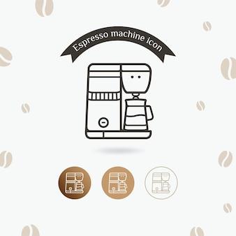 Icona di vettore di attrezzature per il caffè