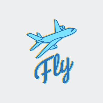 Icona di vettore di logo di viaggio o aereo