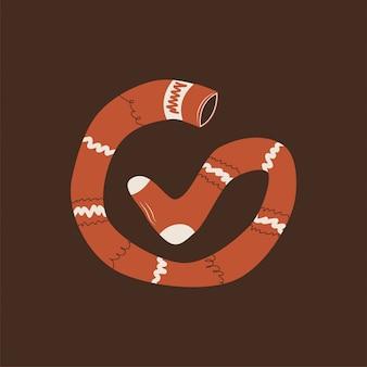 Icona di vettore di pippi longstocking. calza logo eps