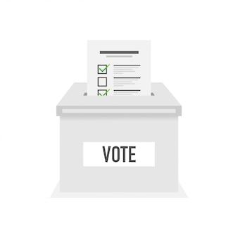 Icona di vettore di voto in stile piano.