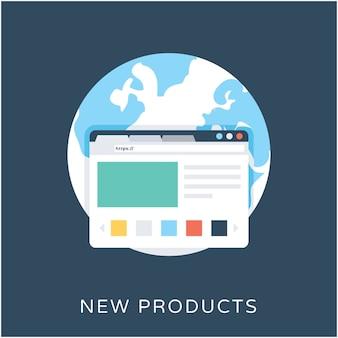Icona di vettore piatto di nuovi prodotti