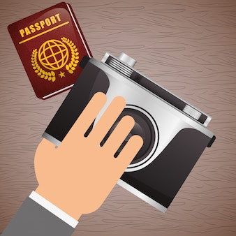 Icona di viaggio, illustrazione vettoriale