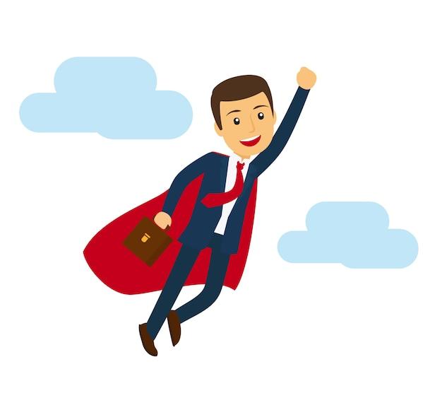 Icona di volo superman ufficio