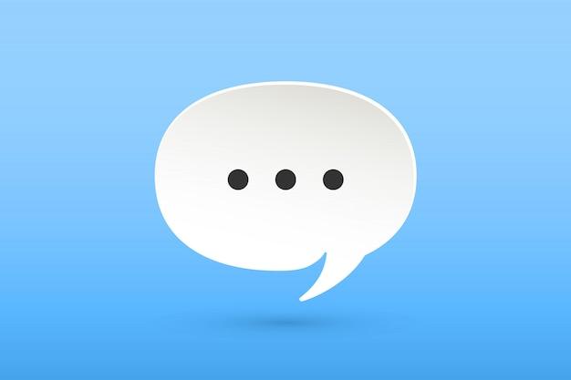 Icona di white paper cloud talk chat