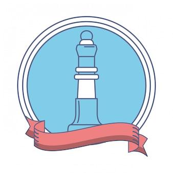 Icona finanziaria di pezzo degli scacchi