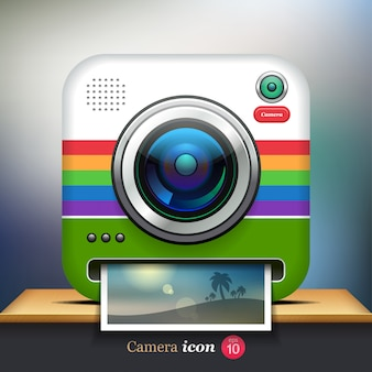 Icona fotocamera retrò di instagram
