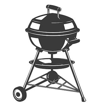 Icona grill su sfondo bianco. elementi per logo, etichetta, emblema, segno, distintivo. illustrazione