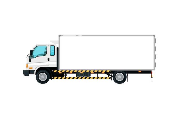 Icona isolata camion del contenitore di trasporto