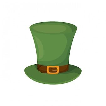 Icona isolata cappello leprechaun