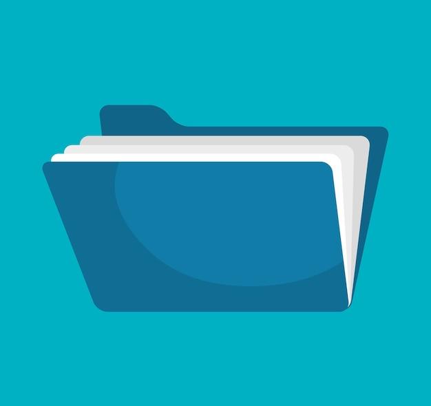 Icona isolata del documento del file della cartella