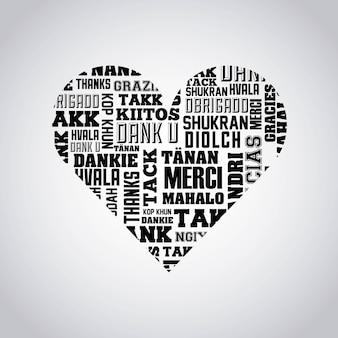 Icona isolata dell'etichetta del messaggio di ringraziamento