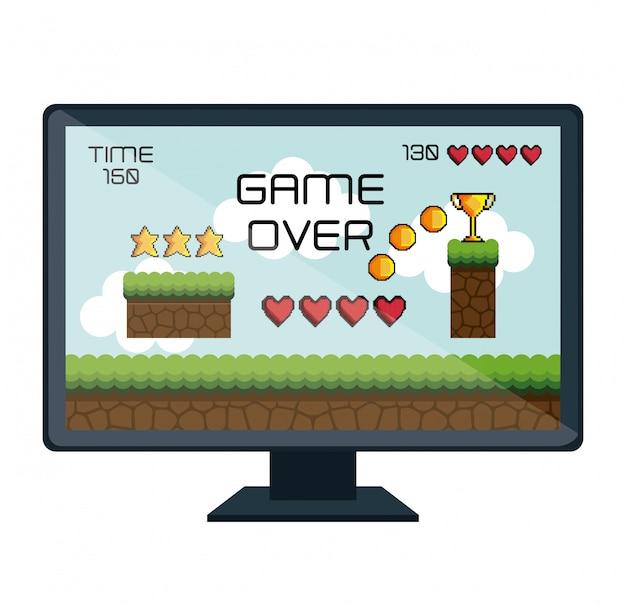 Icona isolata di interfaccia video gioco