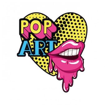 Icona isolata di sgocciolatura della bocca femminile