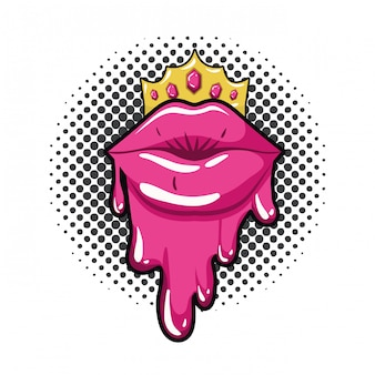 Icona isolata dripping labbra femminili