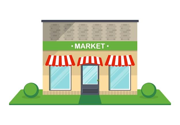Icona isolata facciata del mercato