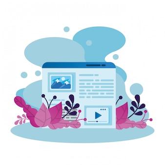 Icona isolata finestra della pagina web del modello