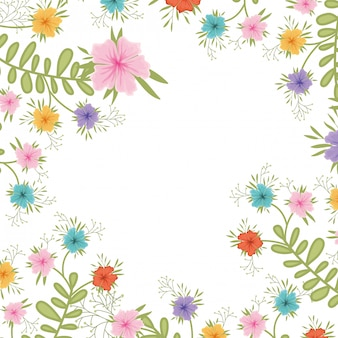 Icona isolata modello di fiori