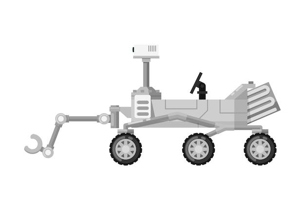Icona isolata moderno marte rover