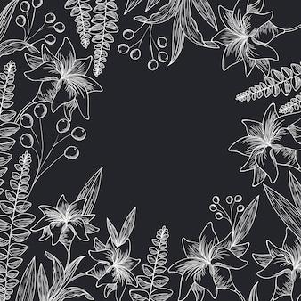 Icona isolata piante ed erbe del modello