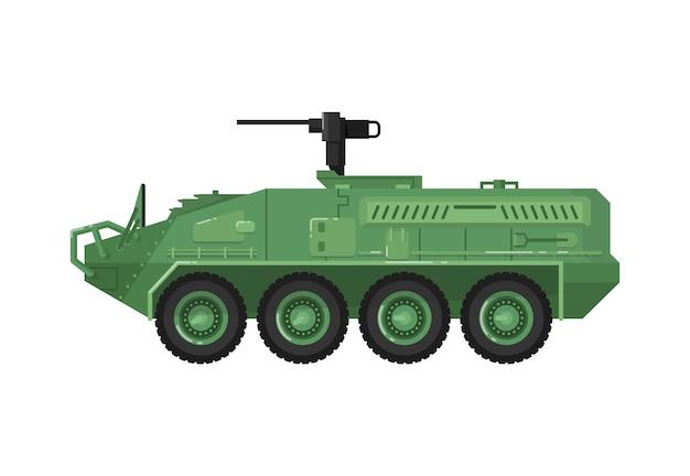 Icona isolata veicolo da combattimento moderno