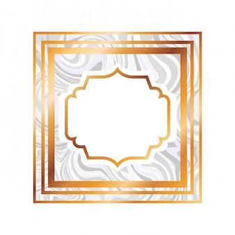 Icona isolata vittoriano elegante cornice