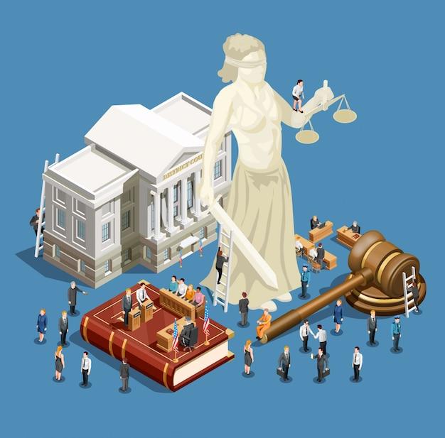 Icona isometrica di legge