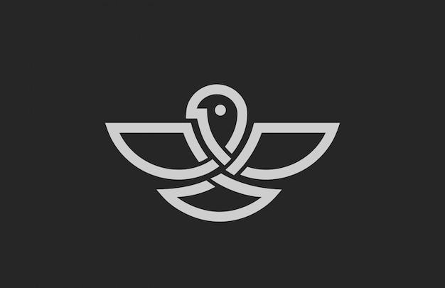 Icona logo astratto uccello.