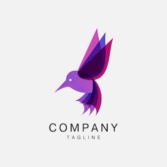 Icona logo uccello volante, logo animale