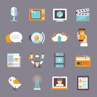 Icona media piatta