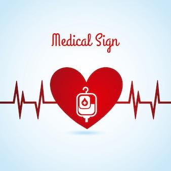 Icona medica sopra illustrazione vettoriale sfondo blu