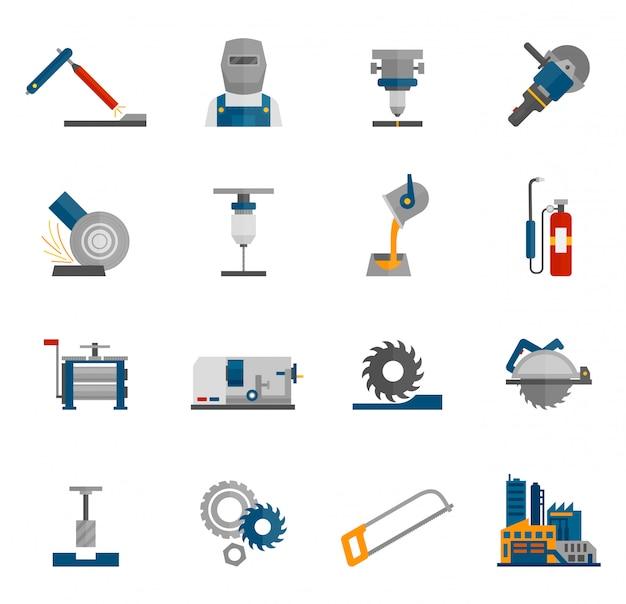 Icona metallurgica piatta