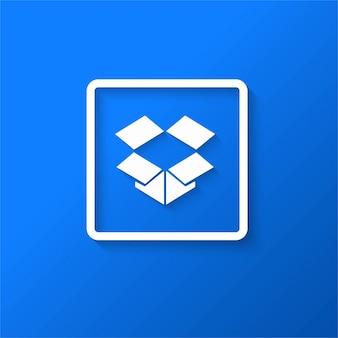 Icona moderna della scatola di caduta