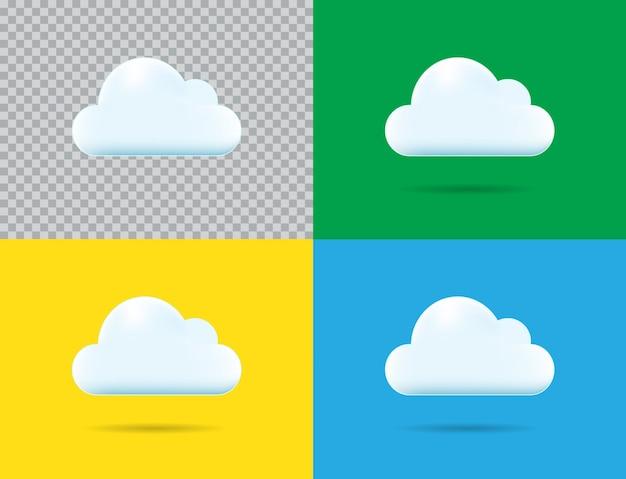 Icona nuvola professionale vettoriale