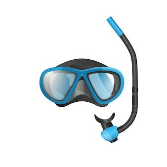 Icona piana maschera di snorkel