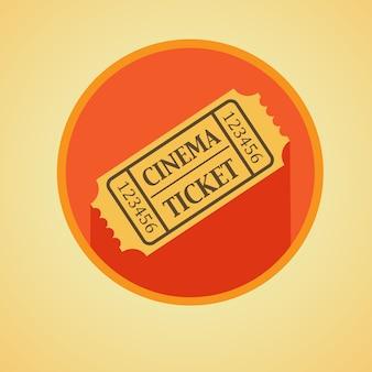 Icona piatto del biglietto