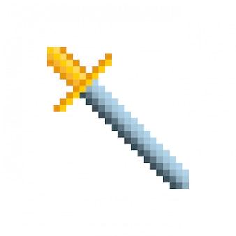 Icona pixelata della spada del video gioco