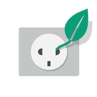 Icona presa eletrcity energia alternativa