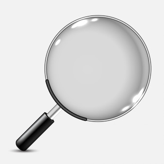 Icona realistica della lente d'ingrandimento